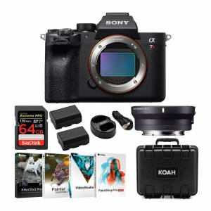 Alpha a7R IV Full-Frame Mirrorless ILC (Body Only) with Sigma MC11 Adapter for Canon EF Lenses Bundle in Black