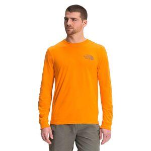 The North Face Men's Sleeve Hit LS Tee - Medium - Light Exuberance Orange- Men