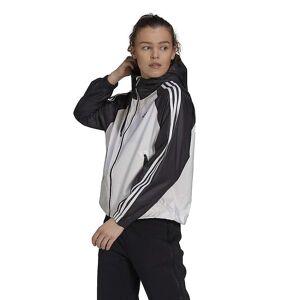 Adidas Women's Terrex Basic 3S Wind.RDY Jacket - Large - White / Black- Women