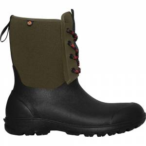 Bogs Men's Sauvie Snow Boot - 8 - Dark Green- Men