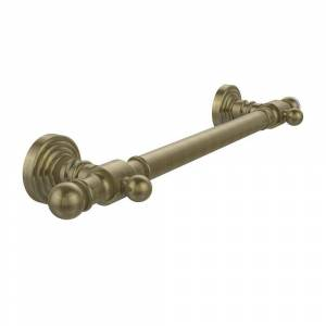Allied Brass Waverly Place Collection 32 in. Smooth Grab Bar, Antique Brass