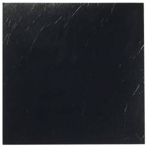 Achim Sterling Black Solid 12 in. x 12 in. Peel and Stick Vinyl Tile (20 sq. ft. / case), Dark