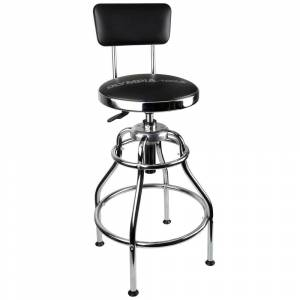 Olympia 300 lb. Capacity 39 in. Adjustable Height Hydraulic Garage/Shop Stool with 360-Degree Swivel