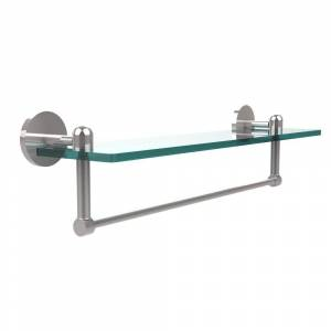 Allied Brass Tango Collection 22 in. Glass Vanity Shelf with Integrated Towel Bar in Polished Chrome