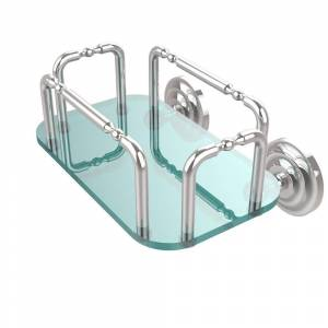 Allied Brass Que New Wall Mounted Guest Towel Holder in Polished Chrome
