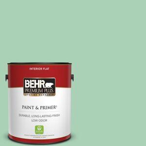 BEHR PREMIUM PLUS 1 gal. #460D-4 Aloe Essence Flat Low Odor Interior Paint & Primer
