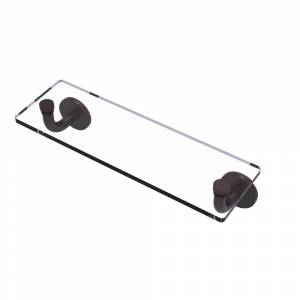 Allied Brass Remi Collection 16 in. Glass Vanity Shelf with Beveled Edges in Venetian Bronze