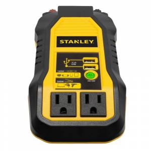 Stanley 500-Watt Portable Car Power Inverter with 3.1 Amp with USB