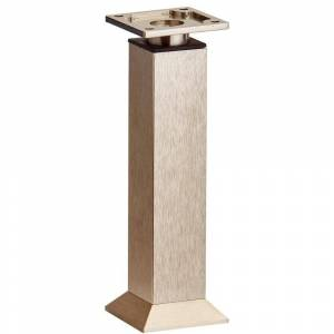 Richelieu Hardware 9-27/32 in. (250 mm) Stainless Steel Adjustable Vintage Square Legs, Silver