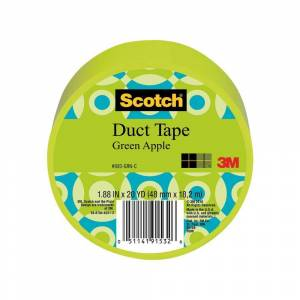 3M Scotch 1.88 in. x 20 yds. Green Duct Tape (Case of 6)