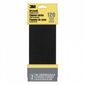 3M 4-3/16 in. x 11-1/4 in. 120 Grit Medium Drywall Sanding Screens (2-Pack) (Case of 20)