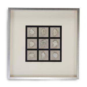 Zentique Abstract Gemstone Wall Art, sliver/ beige/ black