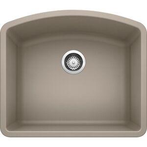 DIAMOND Undermount Granite Composite 24 in. Single Bowl Kitchen Sink in Truffle