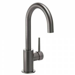 Delta Contemporary Single-Handle Bar Faucet in Black Stainless
