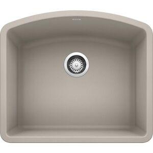 DIAMOND Undermount Granite Composite 24 in. Single Bowl Kitchen Sink in Concrete Gray
