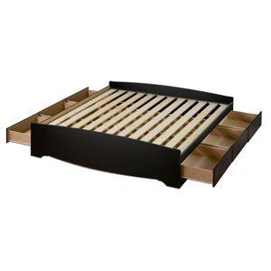 Prepac Sonoma Queen Wood Storage Bed, Black