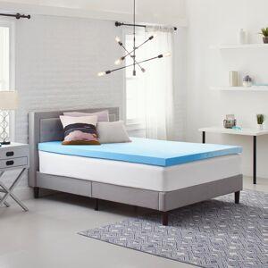 Comfort Revolution 3 in. Medium No Pocket Gel Memory Foam Queen Mattress Topper, Blue