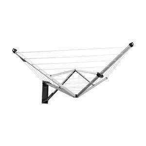 Brabantia Wallfix 72.5 x 72.5 Inch Steel Retractable Indoor or Outdoor Clothesline with protective cover, Metallic Grey