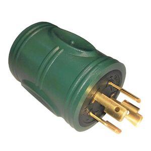 parkworld Generator 20 Amp Locking 4-Prong NEMA L14-20P Plug to 20 Amp 3-Prong L5-20R Outlet Splitter Adapter(L14-20P to L5-20R), Green