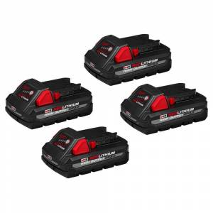 Milwaukee M18 18-Volt Lithium-Ion HIGH OUTPUT CP 3.0 Ah Battery Pack (4-Pack)