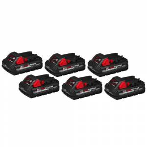 Milwaukee M18 18-Volt Lithium-Ion High Output CP 3.0Ah Battery Pack (6-Pack)