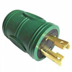parkworld Generator 30 Amp Locking L14-30P Plug to 20 Amp T-Blade 5-20R/5-15R Outlet Splitter Adapter(L14-30P to 5-20R/5-15R), Green