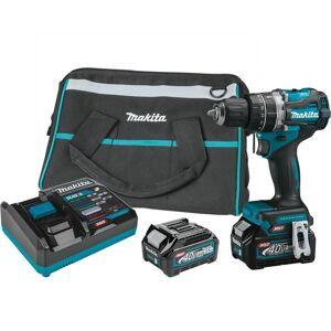 Makita 40V Max XGT Compact Brushless Cordless Compact 1/2 in. Hamer Driver-Drill Kit (2.5Ah)