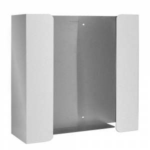 Industries Double Capacity Stainless Steel Glove Box Dispenser, Silver