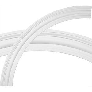 Ekena Millwork 68 in. Bradford Ceiling Ring (1/4 of Complete Circle), White