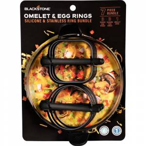 Blackstone Omelet and Egg Rings Bundle for Griddles and Flat-Top Grills (7-Piece)