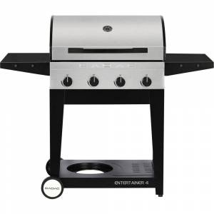 Cadac Entertainer 4-Burner Propane Gas Grill in Stainless Steel, Silver