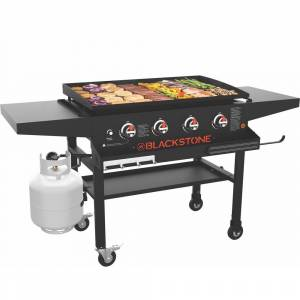 Blackstone Original 36 in. 4-Burner Propane Griddle with Front Tray in Black