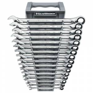 GEARWRENCH Metric 72-Tooth X-Large Ratcheting Combination Wrench Tool Set (16-Piece)