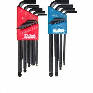 Eklind Combination Ball-Hex-L Key Set Sizes0.050 to 3/8 and Size 1.5 mm to 10 mm (22-Piece)