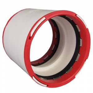 Charlotte Pipe 3 in. ConnecTite PVC DWV Coupling, Ivory