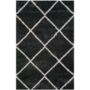 SAFAVIEH Hudson Shag Dark Gray/Ivory 6 ft. x 9 ft. Geometric Diamonds Area Rug