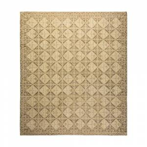 Solo Rugs Eclectic One of a Kind Contemporary Gray 8 ft. 2 in. x 9 ft. 6 in. Geometric Area Rug