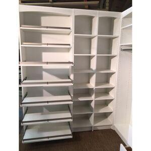 N K S DESIGNS 84 H 28-Pair 7-Tier White Melamine Shoe Rack