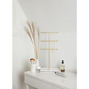 UMBRA Trigem White/Brass Jewelry Stand