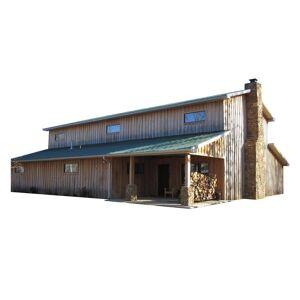 HANSEN BUILDINGS, LLC 48 ft. x 60 ft. x 20 ft. Wood Garage Kit without Floor, Browns / Tans