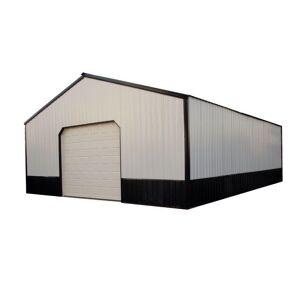 HANSEN BUILDINGS, LLC Charlotte 40 ft. x 50 ft. x 12 ft. Wood Pole Barn Garage Kit without Floor, Multi