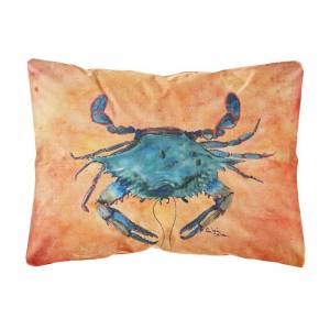 Caroline's Treasures 12 in. x 16 in. Multi Color Lumbar Outdoor Throw Pillow Crab, Multicolor