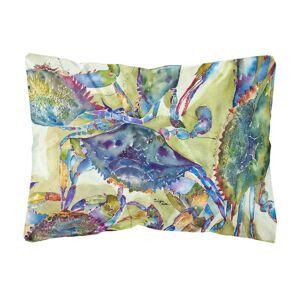 Caroline's Treasures 12 in. x 16 in. Multi Color Lumbar Outdoor Throw Pillow Crab All Over, Multicolor