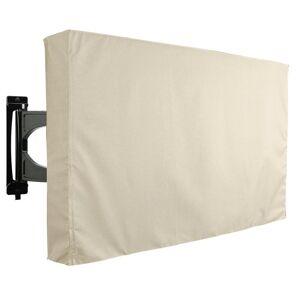 KHOMO GEAR 22 in. - 24 in. Beige Outdoor TV Universal Weatherproof Protector Cover, Solid