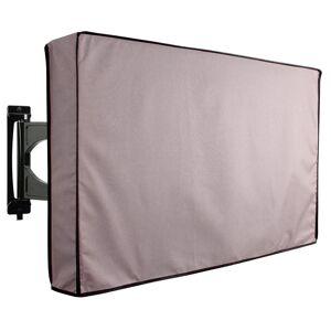 KHOMO GEAR 30 in. - 32 in. Grey Outdoor TV Universal Weatherproof Protector Cover, Solid