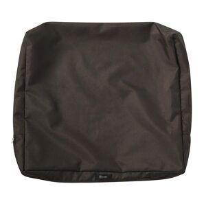 Classic Accessories Ravenna 25 in. W x 20 in. H x 4 in. D Patio Back Cushion Slip Cover in Espresso, Brown
