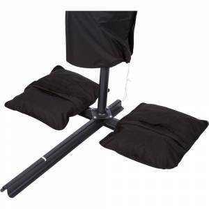 Trademark Innovations Saddlebag Style Sand Weight Bag for Patio Umbrella Base (Single Unit), Black