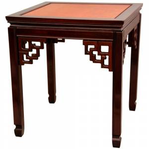 Oriental Furniture Square Ming Multi End Table