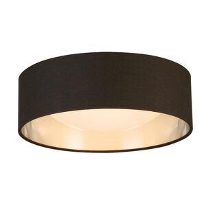 Eglo Orme 12 in. 1-Light Black/Brushed Nickel LED Flush Mount