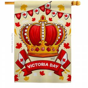 Angeleno Heritage MADE AND DESIGNED LOS ANGELES CALIFORNIA 28 in. x 40 in. Celebrate Victoria Day House Flag Double-Sided Regional Decorative Vertical Flags